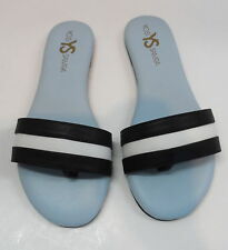 YOSI SAMRA Womans Sandals Style WRM 200 615 Black & White new in box