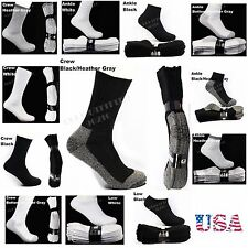 12 Pairs Lot Men Women Heavy Cotton Socks Work Boots Hiking Athletic Thick
