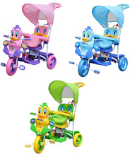 THREE WHEEL BIKE TRICYCLE SCOOTER BABY DUCK TODDLER INFANT TRIKE PARENT HANDLE