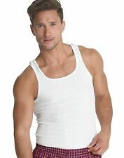 7 Hanes Classics Mens White A-Shirt Tank Wife Beater Undershirt Value S - XL Lot
