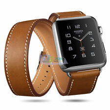 38/42mm Genuine Leather Strap Brown Bracelet Leather Watch Bands For Apple Watch