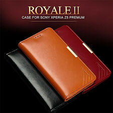 Luxury KALAIDENG Cow Leather Case Wallet Flip Cover For SONY Xperia Z5 Premium