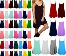 Ladies Camisole Cami Strappy Swing Dress Vest Top 6  8 10 12 14 16 18 -26 CmiLng