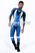 Rubber Latex Moto Suit Great Catsuit with Custom Logo Gummi Zentai Costume