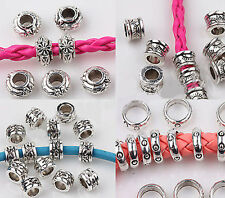 Wholesale Tibet Silver Charm Carved Disc Loose Spacer Beads Jewelry Finging DIY