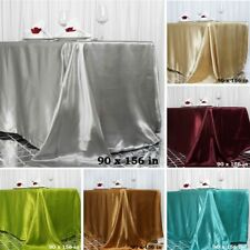 "24 pcs Wholesale Lot 90x156"" RECTANGLE Satin TABLECLOTHS Wedding Party Catering"