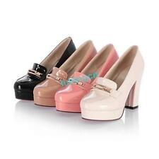 new patent leather womens platfomr high heels sweet court shoes pumps mary janes