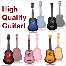 """New 25"""" Beginners Kids Acoustic Guitar 6 String with Pick For Children Kids Gift"""