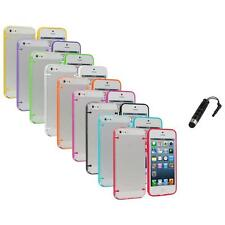 Color Clear Robot Crystal Hard Snap-On Case Cover+Stylus Plug for iPhone 5 5S