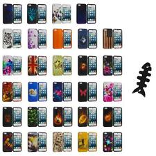 For iPhone 5S 5 5G Hard Snap-On Design Rubberized Case Cover Skin+Cable Wrap
