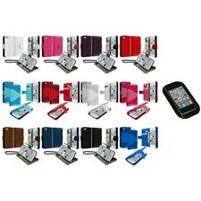 For iPhone 5C Leather Wallet Pouch Case Cover Credit Card ID Holder+Sticky Pad