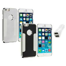 For Apple iPhone 6 (4.7) Brushed Aluminum Metal Hard Case Cover Car Charger