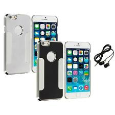 For Apple iPhone 6 (4.7) Brushed Aluminum Metal Hard Case Cover Headphones