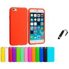 For Apple iPhone 6 (4.7) Silicone Case Rubber Soft Skin Cover Stylus Plug