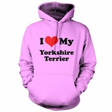 I Love My Yorkshire Terrier - Unisex Hoodie / Hooded top - Dog - Puppy - S-XXL