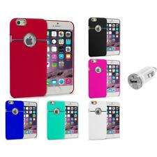 For iPhone 6 Plus (5.5) Hard Deluxe Chrome Rear Slim Case Cover USB Charger
