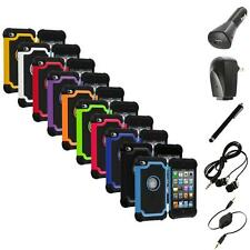 Color Deluxe Hybrid Hard Case Cover+Accessories for iPod Touch 4th Gen 4G 4