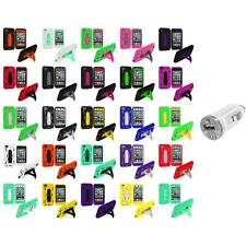 For iPod Touch 4th Gen 4G Hybrid Heavy Duty Rugged Case Cover USB Charger