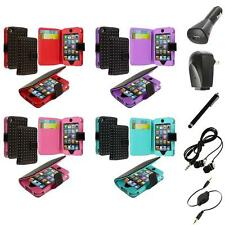 For iPod Touch 4th Generation 4G 4 Color Wallet Pouch Case Cover+Accessories