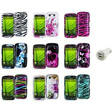 Design Hard Case Cover Accessory+Dual Charger for Blackberry Torch 9850 9860