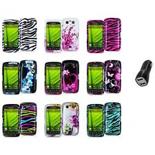 Design Hard Case Cover Accessory+2.1A Charger for Blackberry Torch 9850 9860