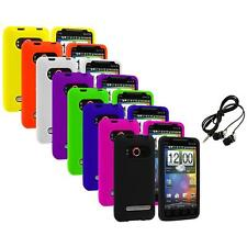 Color Silicone Gel Soft Case Cover+Headphones for HTC Sprint EVO 4G Accessory