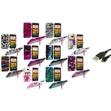 Design Hard Snap-On Case Cover Accessory+USB Cable for HTC EVO 4G LTE Sprint