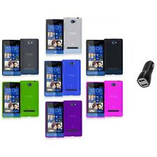Color TPU Plain Case Cover Accessory+2.1A Charger for HTC Windows Phone 8S
