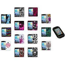 For LG Lucid 2 VS870 Color Hard Design Rubberized Case Cover+Sticky Pad