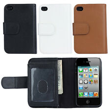 For Apple iPhone 4 4s Magnetic Phone Case Cover Card Purse PU Leather Wallet