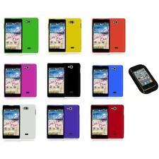 For LG Spirit 4G MS870 Color Hard Snap-On Rubberized Case Cover+Sticky Pad