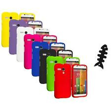 For Motorola Moto G Hard Rubberized Matte Snap-On Case Cover Cable Wrap