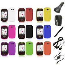 For Samsung Gravity Q Hard Snap-On Rubberized Case Cover Accessory+Accessories