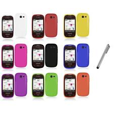 For Samsung Gravity Q Hard Snap-On Rubberized Case Cover Accessory+Stylus Pen