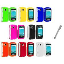 Color Hard Snap-On Skin Case Cover+Metal Pen for Samsung Doubletime I857 Phone
