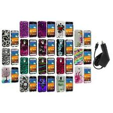 Design Hard Case Cover+Charger for Samsung Epic Touch 4G Sprint Galaxy S2