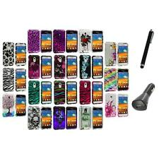 Design Hard Case Cover+Charger+Pen for Samsung Epic Touch 4G Sprint Galaxy S2