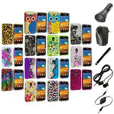Design Hard Rubberized Case Cover+Accessories for Samsung Sprint Galaxy S2 S II