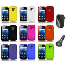 Color Hard Snap-On Case Skin Cover+2X Chargers for Samsung Exhilarate i577