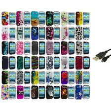 Design Hard Snap-On Case Cover Accessory+USB Cable for Samsung Galaxy S III S3