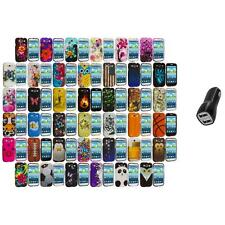 Design Hard Snap-On Rubberized Case Cover+2A Charger for Samsung Galaxy S3 S III
