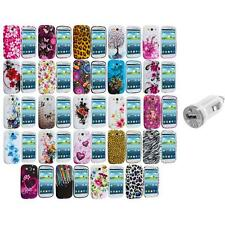 TPU Design Rubber Soft Skin Case Cover+USB Charger for Samsung Galaxy S3 S III