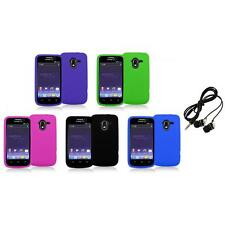 Color Silicone Rubber Gel Soft Skin Case Cover+Headphones for ZTE Avid 4G N9120