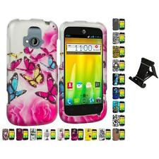 For ZTE Radiant Z740 Hard Design Case Cover Accessory Stand Mount