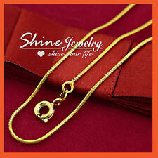 """18"""" 20"""" 14K GOLD FILLED SOLID MENS WOMENS KIDS SNAKE CHAIN NECKLACE for PENDANT"""