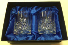 Crystal of Distinction Crystal Whisky Glasses x 2 in Presentation Box