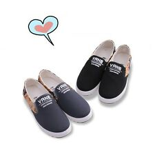 Student Causal Canvas Shoes Comfortable Flat Heel Girl Espadrilles Slip-on Shoes