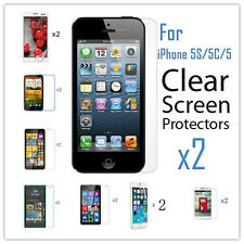2PCS Ultral Clear HD LCD Screen Protector Film W/ Clean Cloth For iPhone Samsumg