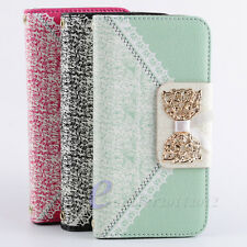 Hot Sale For Samsung For Apple Flip Leather Wallet Pouch Hard Skin Case Cover
