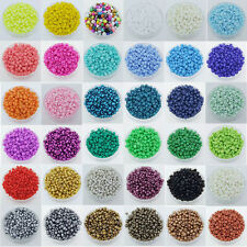 Lots 1000Pcs Charm Czech Smooth Glass Loose Spacer Beads Jewelry Making DIY 2mm